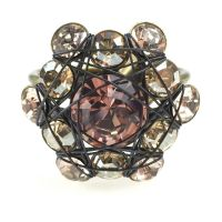 Konplott Bended Lights Ring in beige/vintage rose