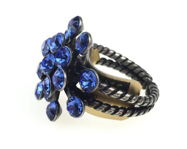 Konplott Magic Fireball 16 Stein Ring in sapphire #5450527611725
