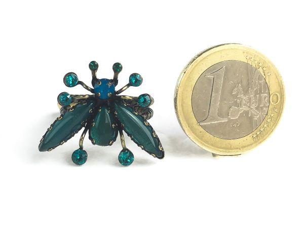 Konplott Flower Zumzum blau/grüner Ring #5450543621333