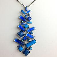 Konplott Shake to the Rhythm blaue Halskette lang mit Anhänger #5450543626925