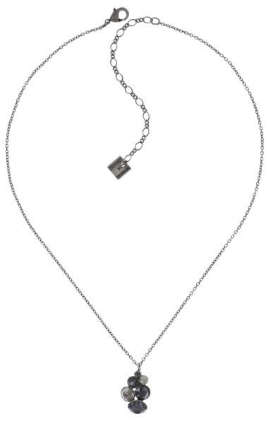 Konplott Petit Glamour Halskette mit Anhänger in schwarz #5450543726748