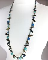 Konplott Shake to the Rhythm grüne Halskette lang steinbesetzt #5450543626659
