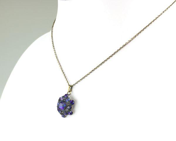 Konplott Bended Lights Halskette mit Anhänger in Violett #5450527758871