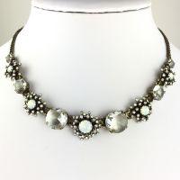 Konplott Petit Four de Fleur weiße Halskette steinbesetzt #5450543495248