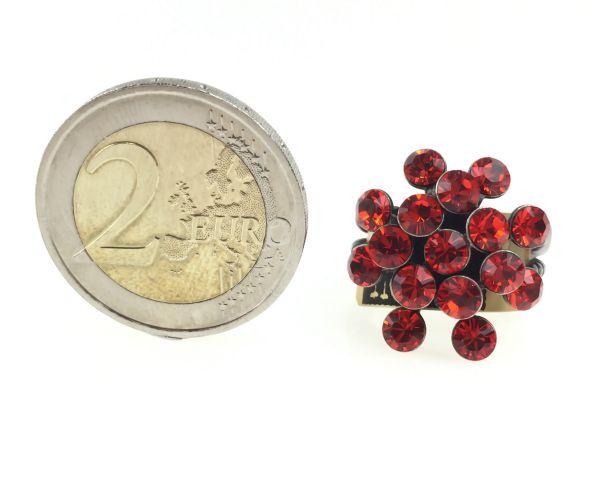 Konplott Magic Fireball 16 Stein Ring in hyacinth, rot/orange #5450527640398