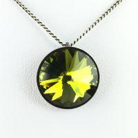Konplott Rivoli olivine Halskette mit Anhänger