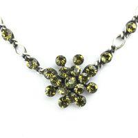 Konplott Magic Fireball Halskette steinbesetzt mit Anhänger in khaki