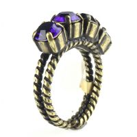 Konplott Colour Snake Ring in Purple Velvet, dunkellila