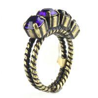 Colour Snake Ring in Purple Velvet, dunkellila