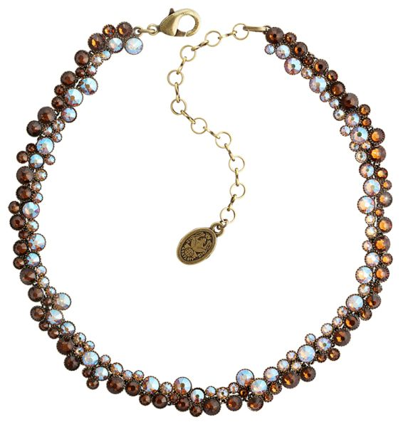Inside Out Choker Halskette in braun - Widerrufsware wie neu