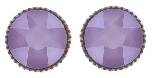 Konplott Black Jack Ohrstecker klassisch groß in lila crystal #5450543730745