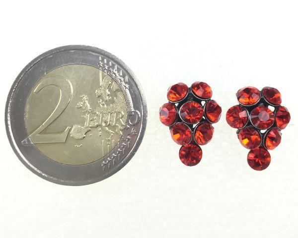 Konplott Magic Fireball Ohrstecker klassisch Traube in hyacinth, rot/orange #5450527640428
