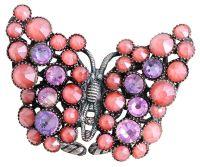 Konplott Lost Garden Ring pastel multi rosa, Schmetterling #5450543659275