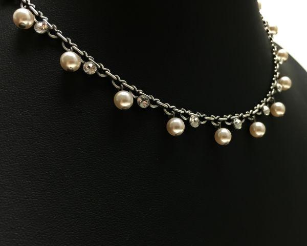 Konplott Pearl Shadow crystal Halskette steinbesetzt #5450527444439