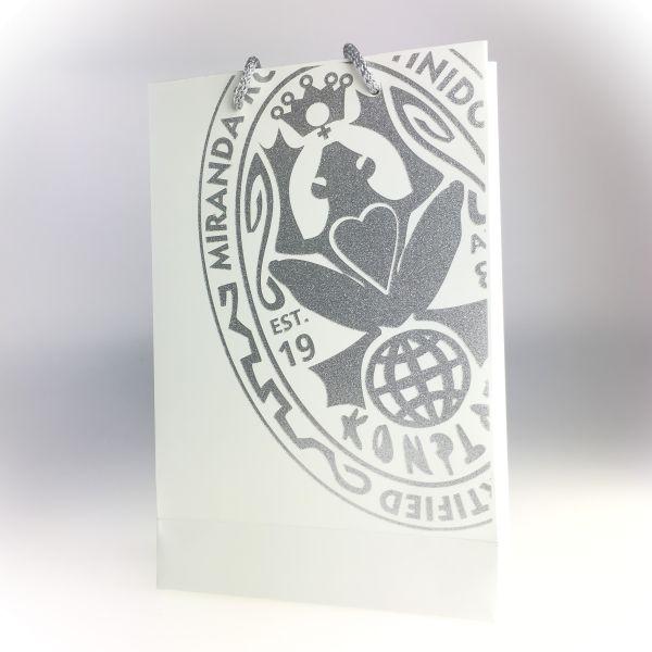 Konplott Bag in weiß/grau Glitzer #GlitterBag