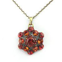 Bended Lights Halskette mit Anhänger in Koralle/ Rot
