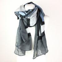 Konplott Schal Halstuch in schwarz/blau #5450543538730