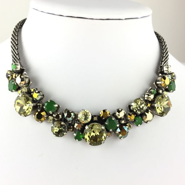 Konplott Ballroom Classic Glam grün/braune Halskette steinbesetzt #5450543611365