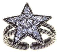 Dancing Star Ring in weiß Größe M