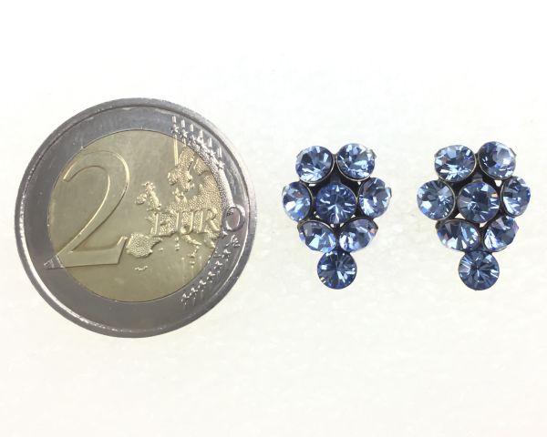 Konplott Magic Fireball Ohrstecker Traube in light sapphire, hellblau #5450527612074