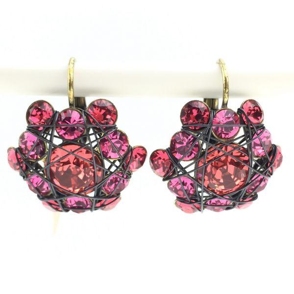 Konplott Bended Lights Ohrhänger mit Klappverschluss in Koralle/ Pink #5450527759427