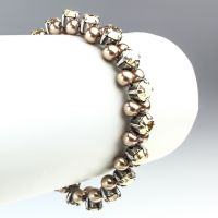 Pearl Shadow crystal golden shadow Armband elastisch (S)