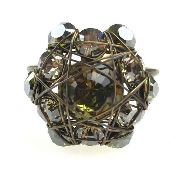Konplott Bended Lights Ring in Olivgrün #5450527760065
