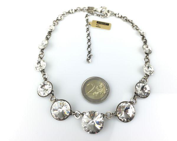 Konplott Rivoli crystal weiße Halskette steinbesetzt #5450527558105