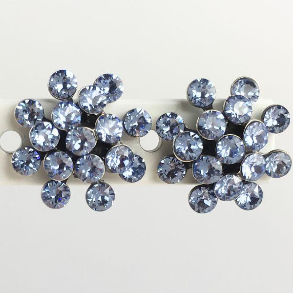 Magic Fireball light sapphire, hellblau Ohrstecker klassisch mini
