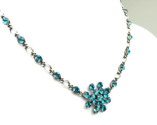 Konplott Magic Fireball Halskette steinbesetzt mit Anhänger in indicolite #5450527640190