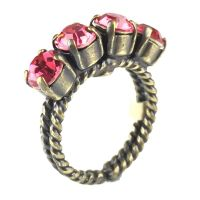 Konplott Colour Snake Ring in Indian Pink, pink/rot