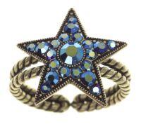 Dancing Star Ring in blau Größe M