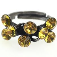 Magic Fireball 8 Stein Ring in light topaz, gelb