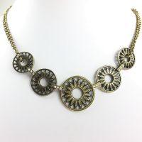 Konplott Rosone gelbe Halskette steinbesetzt #5450543485850