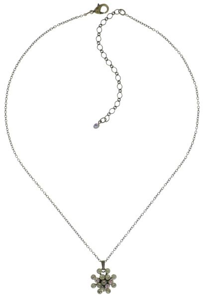 Konplott Magic Fireball Halskette mit Anhänger hellrosa/ weiß mini #5450543683447