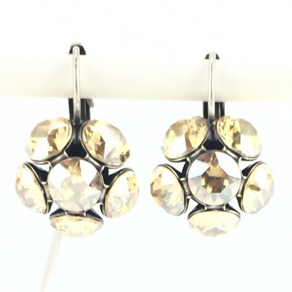 Konplott Disco Balls crystal golden shadow Ohrhänger mit Klappverschluss #5450527640718
