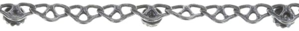 Konplott Festival Anklet Fußkette beige Silberfarben #5450543747392