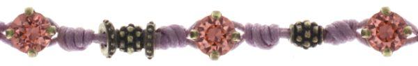 Konplott Festival Armband in lila/pink Messing #5450543746739