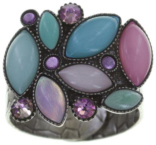 Konplott Dance with Navette Ring pastel multi Silberfarben #5450543706160