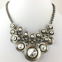Konplott Rivoli Concave white crystal Halskette steinbesetzt #5450543325392