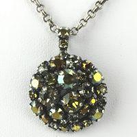 Konplott Ballroom gelb/grüne Halskette mit Anhänger #5450543350707