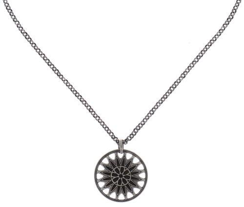 Konplott Rosone Halskette mit Anhänger Größe M in schwarz #5450543654386