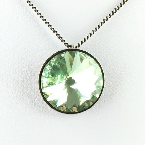 Konplott Rivoli chrysolite Halskette mit Anhänger hellgrün #5450527640831