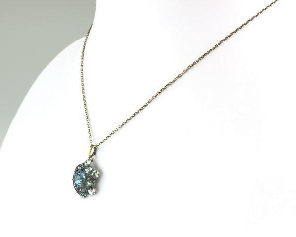 Konplott Bended Lights Halskette mit Anhänger in Hellblau #5450527280259