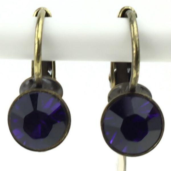 Konplott Black Jack Ohrhänger mit Klappverschluss in purple velvet #5450527612265