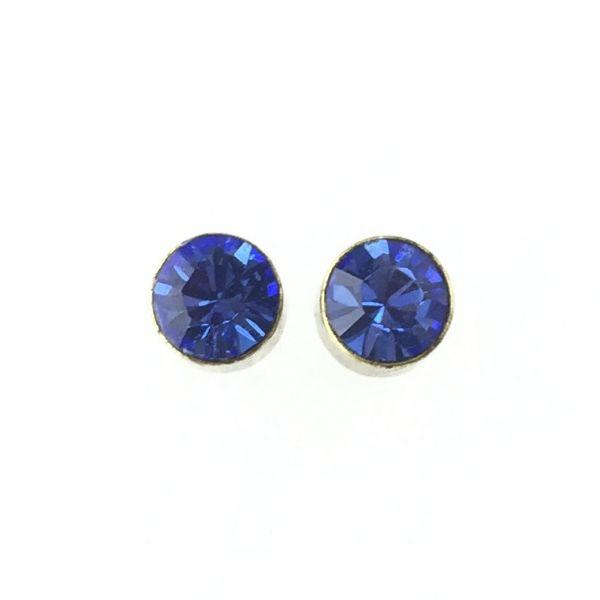 Konplott Black Jack Ohrstecker klein in Sapphire, blau #5450527266598