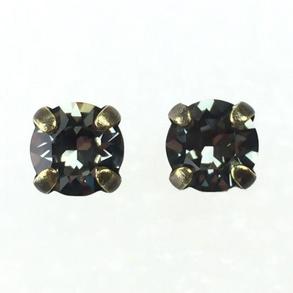 Konplott Black Jack Ohrstecker eckig in Black Diamond, kristall schwarz #5450527123877
