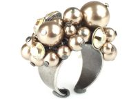 Pearl Shadow crystal golden shadow Ring