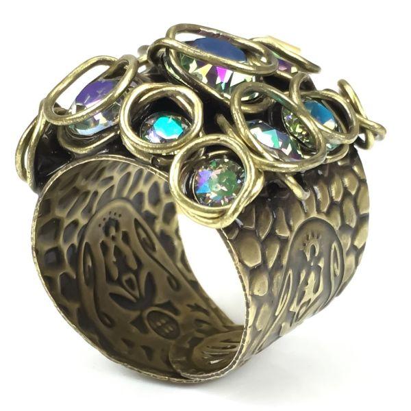 Konplott Sparkle Twist lila crystal paradise shine Ring #5450543251967