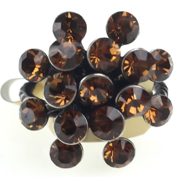 Konplott Magic Fireball 16 Stein Ring in smoked topaz #5450527640152